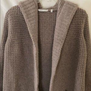 Vince Waffle knit hooded cardigan (large)